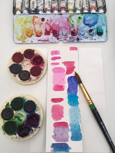 Test your watercolours by making a swatch so you know the colours you want to use.